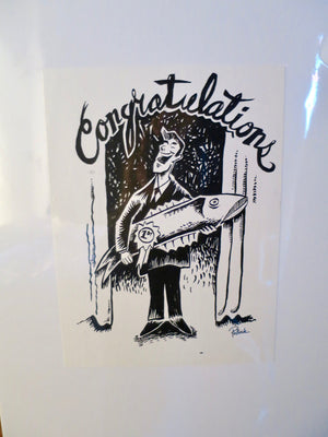 Phish 1994 Congratulations With Fish (2000 postcard) Proof