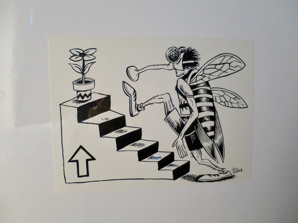 1994 Phish Bee Going Upstairs (2000 postcard) Proof