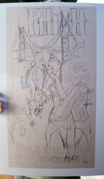 Phish Bill Graham 2014 OG Pencil Concept Sketch