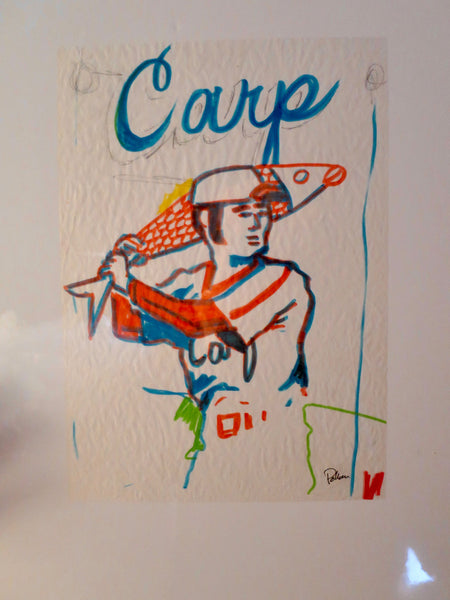 Phish OG Chicago '94 Baseball Card Concept Sketch - Carp