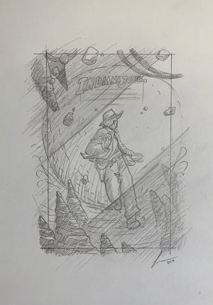 "Florey ""Indiana Jones Concept Sketch"""