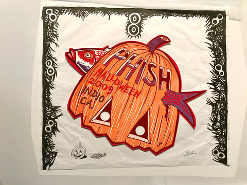 Phish Indio '09 OG Marker Border Sketch + Offset Mask