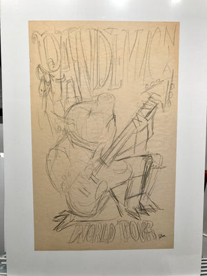 '09 Swine Flu, Pig Guitar Pandemic World Tour OG sketch