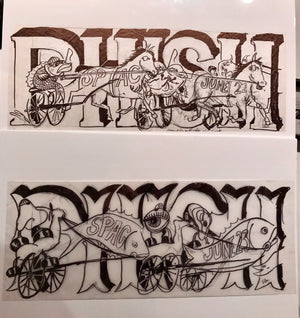 Phish SPAC 2010 OG Marker Sketch set