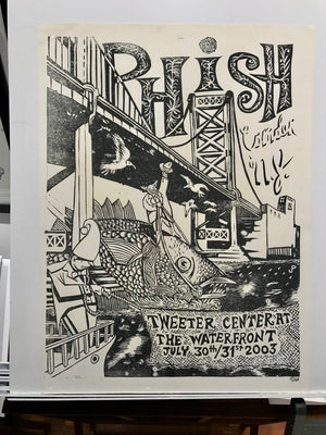 Phish Camden '03 Rare 1-color Black Handpulled Registration proof