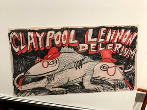 Claypool Lennon Delerium OG Red & Black Sketch - Smaller