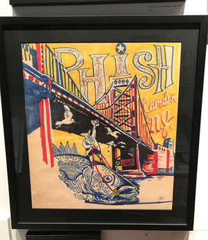 Phish Camden '03 OG Concept Sketch with archival frame