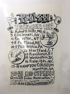 Phish December '99 Tour Shirt back with Cypress date - in progress - B