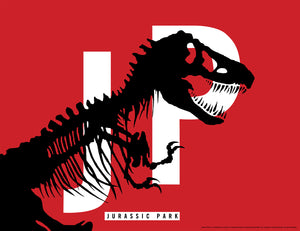 "Chip Kidd ""Jurassic Park"" Red Paper Edition"