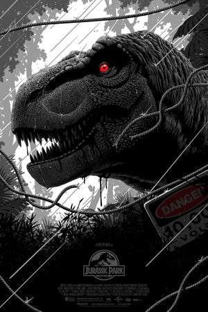 "Florey ""T-Rex doesn't want to be fed, he wants to hunt (Jurassic Park)"" Variant"
