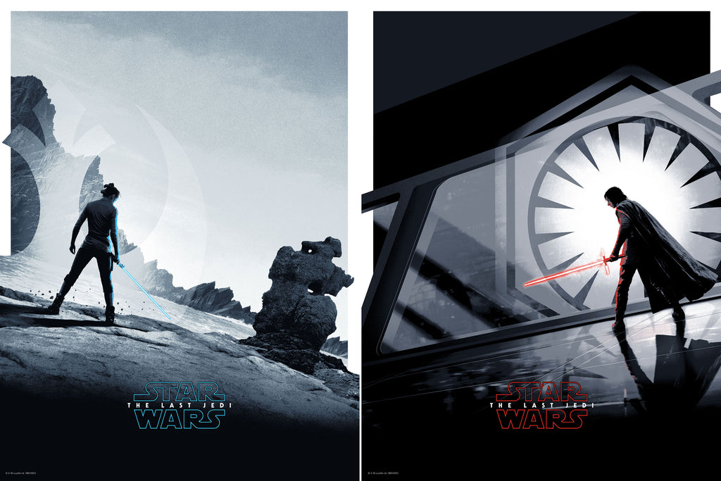 STAR WARS: THE LAST JEDI - REY & KYLO REN by Matt Ferguson & SERENE SEA: THE SIRENS by Joey Feldman On Sale Info!