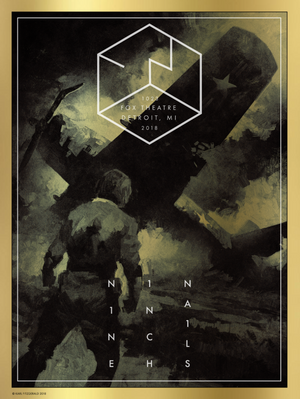 "Karl Fitzgerald ""Nine Inch Nails - Fox Theatre, Detroit"" Variant"
