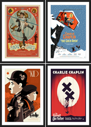 Nautilus Art: The Legacy of Charlie Chaplin Prints - SET OF 4