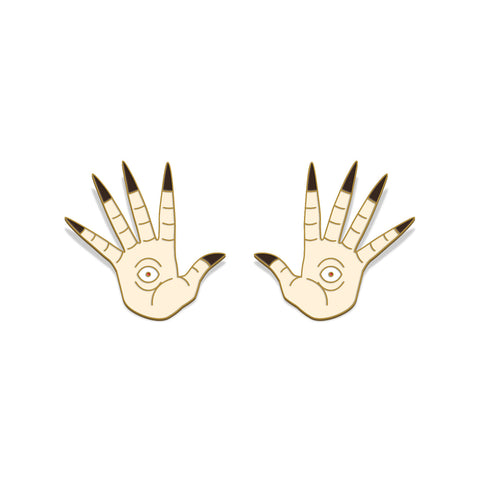 """Pale Man Hands"" Enamel Lapel Pins"