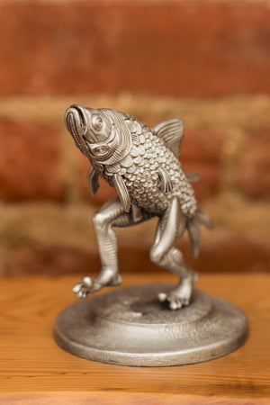 "Jim Pollock ""Walking Fish"" Pewter Statue"