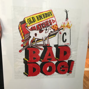 Bad Dog OG Pencil & Marker Sketch