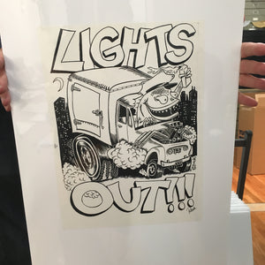 Phish Lights Out Fall '96 Tour Shirt Design Proof - A