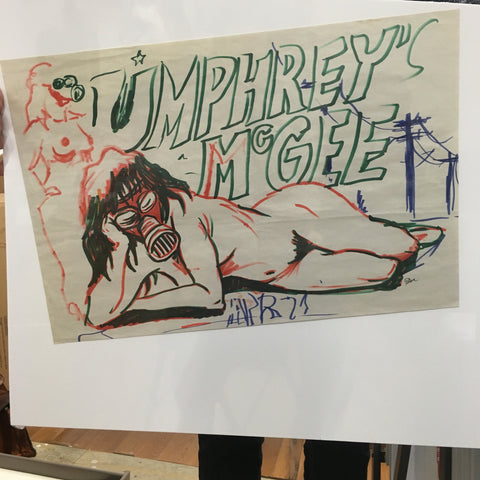 Umphrey's Mcgee Naked Woman w/ Gas Mask Concept Sketch OG