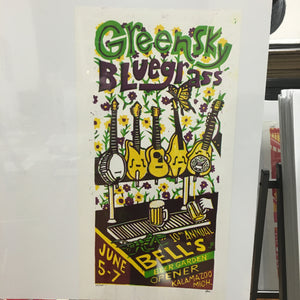 Greensky Bluegrass Bell's Beer Garden print