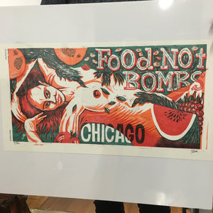 Hemp Series #5 - Food Not Bombs - numbered ed print
