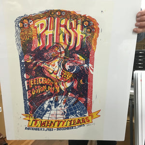 Phish Boston '03 20th Anniversary Rare 3-color Test Print