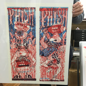 Phish Alpine '09 Uncut Red & Blue Test Print