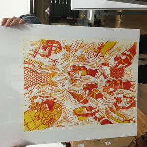 We've Got it Simple Philly Philms - Red & Yellow Test Print - #1