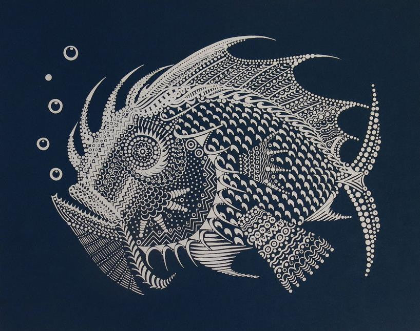 "Anna Witt & David Welker ""Silver Fish"" Night Blue Edition"