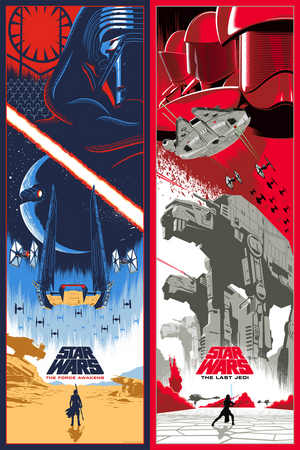 "Eric Tan ""Star Wars: The Force Awakens + The Last Jedi"" SET"