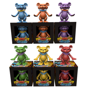 "AJ Masthay ""Dancing Bears - Vinyl Statues"" SET + FREE PRINT + EXCLUSIVE PURPLE EDITION!"