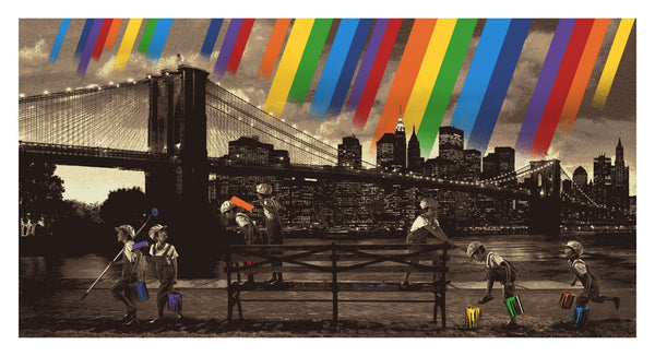 "Roamcouch ""Rainbow Inc. - Brooklyn Bridge (Sepia)"