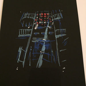 "Raid71 ""Sketch-Blade Runner #5"" Framed"