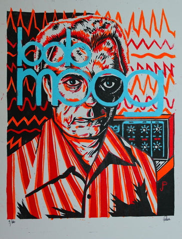 Moog Fest - Bob Moog numbered edition prints #76-80