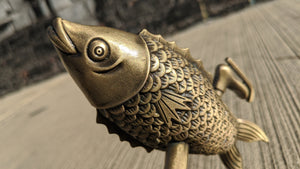 "Jim Pollock ""Skating Fish"" Antique Bronze Variant"