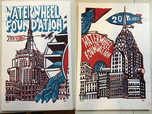 "Jim Pollock ""Waterwheel Foundation - 20 Years"" Diptych"