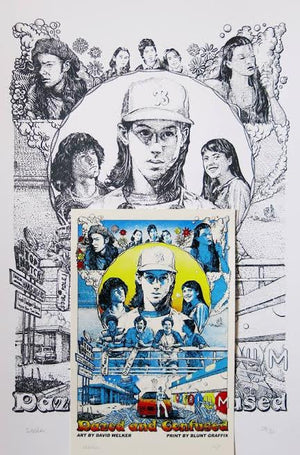 "David Welker ""Dazed and Confused"" Line Art & Handbill Set"