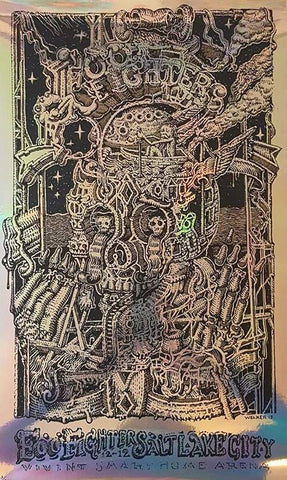 "David Welker ""Foo Fighters - Salt Lake City 12.12.17"" Foil Variant"