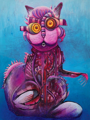 "Joey Feldman ""Fuchsia Cat"""