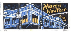 "Jim Pollock ""Happy New Year 2002 Full size"" - Nr Mint"