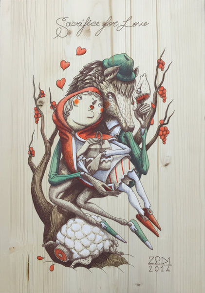 "ZED1 ""Sacrifice for Love"" Wood Variant 7"