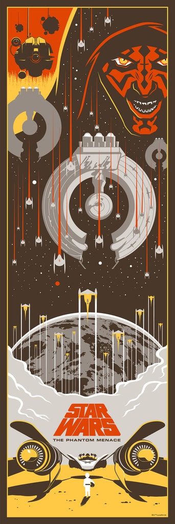 Star wars prequel trilogy set alternative movie posters by eric tan no