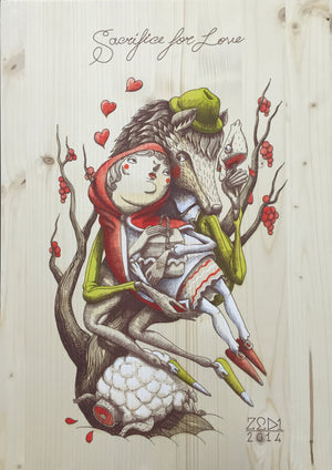 "ZED1 ""Sacrifice for Love"" Wood Variant 2"
