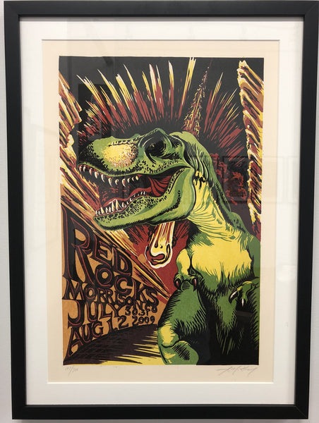 "AJ Masthay ""Red Rocks T-Rex"" - Framed"