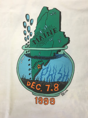 T-Shirt: White Phish '99 Portland, Maine the way life should be - XL