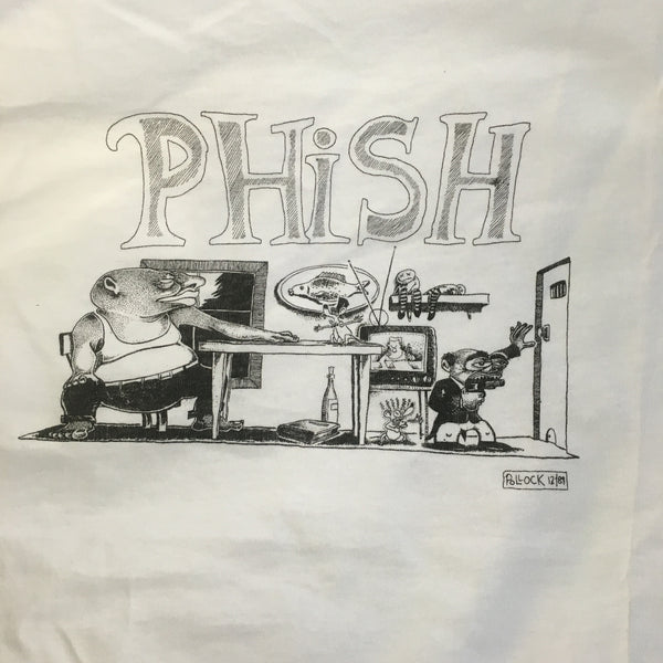 T-Shirt: White Phish Junta pocket-tee - L