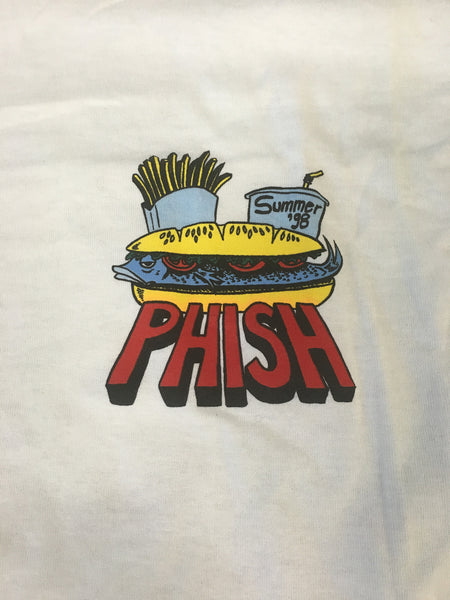 T-Shirt: White Phish Summer '98 Tour Food - XL