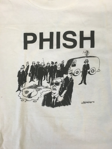 T-Shirt: White CIA Phish Fall '98 tour - L