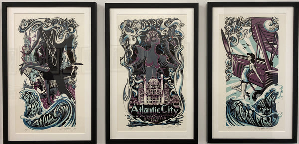 "AJ Masthay ""Bader Field Atlantic City"" Triptych - Framed"