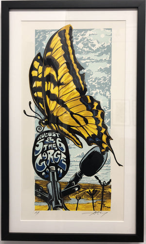 "AJ Masthay ""Gorge Butterfly"" - Framed"