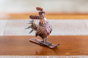 "Jim Pollock ""Year of the Rooster"" Copper Plated Antique Pewter Statue"